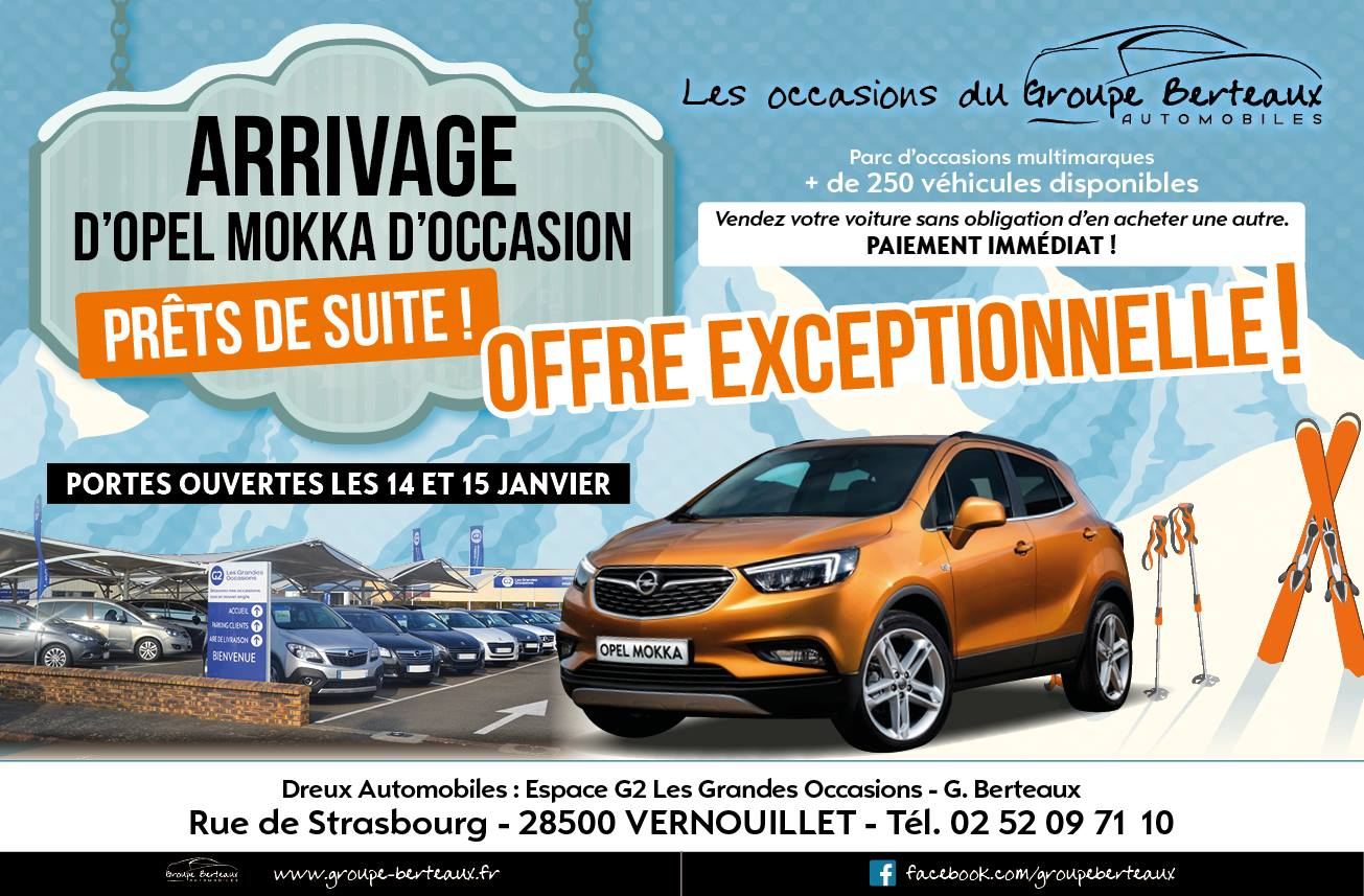 Arrivage d 39 opel mokka for Location garage dreux